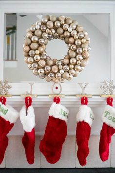 This easy DIY Christmas ornament wreath can store-bought for as little as $20, much less expensive than store bought versions and easy to create custom colors!
