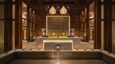 Spa design interior reception areas waiting r