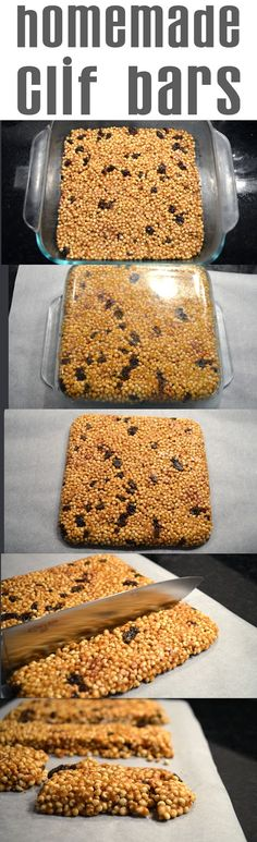 Homemade Clif Bars - Fit Foodie Finds