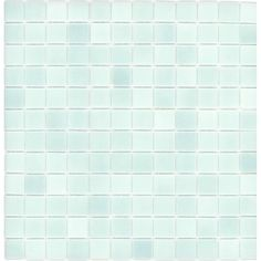 Shop Elida Ceramica 12.5-in x 12.5-in Recycled Glass Mosaic Light Blue Green Glass Wall Tile at Lowes.com
