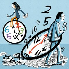 Would you be more productive if you worked a shorter workweek? Shorter Hours Make Stronger Businesses - WSJ Job Info, Work Family, Work Week, The Past, Strong, Business, Women, Store, Business Illustration