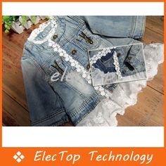 Free shipping Newest Kids Girls Washed Lace Denim Jacket Children Spell Lace Princess Denim Jacket Outwear 10pcs/lot Wholesale-in Jackets & Coats from Apparel & Accessories on Aliexpress.com | Alibaba Group
