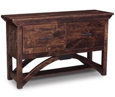 B and O Railroad Trestle Bridge File Console Table by Simply Amish