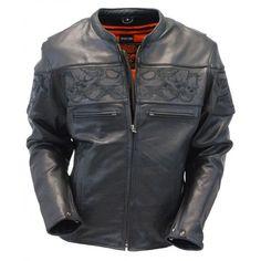 Moto retro chaqueta de cuero modelo George