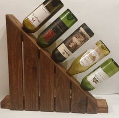 """Available in both left sided and right sided . Available in natural - medium oak and cherry stain. Size is: 5"""" x 21"""" x 18"""". Holds 5 bottles."""