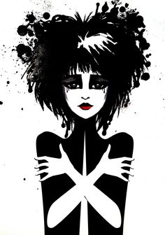 Siouxsie Sioux 11x14 Fine Art Print Gothic Queen of Punk Girl. $35.00, via Etsy.