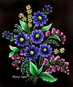 One Stroke Flowers. Hazel Lynn.:
