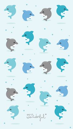 Golfinhos Mr Wonderful Padrao  #mrwonderful #wallpapers #pattern #padrao Kawaii Wallpaper, Animal Wallpaper, Wallpaper Iphone Cute, Cartoon Wallpaper, Cool Wallpaper, Mobile Wallpaper, Pattern Wallpaper, Cute Wallpapers, Mr Wonderful