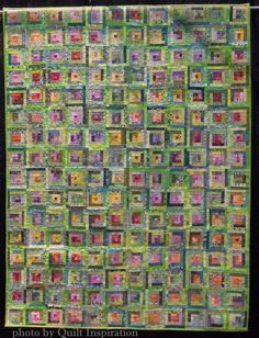 "Spring is Here, 62 x 50"", by Gisha Wogier, Israel.  2015 WQS.  Photo by Quilt Inspiration"