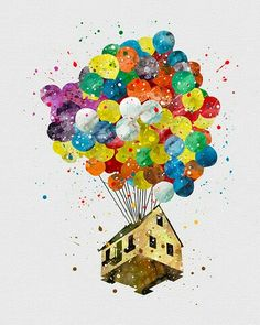 Watercolor - Up Home
