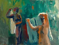 David Park (American, 1911-1960), Women with Towels (Bathers), 1958. Oil on canvas, 50.25 x 66 in.