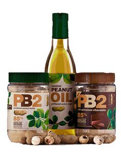 """The healthy way to love peanut butter.  """"Use it as a powder to bake, cook or dip fruit into!""""  www.pb2ca.com"""