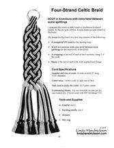 Instrucciones de capas de Split cuatro filamentos de la trenza celta