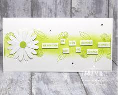 Eine Geburtstagskarte mit dem Gänseblümchengruß Set . Stempeltasia.de