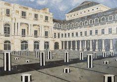 Cour d'honneur, Paris - 2017 - oilpaint - 1560*1100