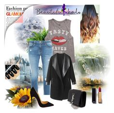 """Untitled #33"" by zina1002 ❤ liked on Polyvore featuring Billabong, Frame Denim, Columbia, Christian Louboutin, Yves Saint Laurent and Chanel"