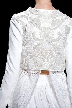 jacket or blouse back. Also indigo on denim?
