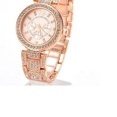 Rose Gold Geneva Watch