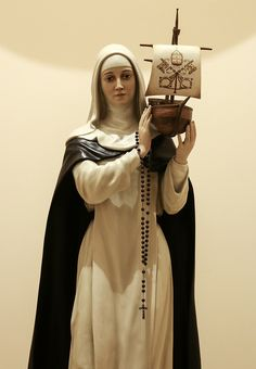 St Catherine supporting St Peter's Barque This statue of St Catherine, supporting the Church in the form of St Peter's boat (barque) is in the Dominican Sisters' Motherhouse of St Cecilia in Nashville, TN. | by Lawrence OP