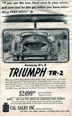 1954 Triumph TR-2 Advertisement Motor Trend August 1954   Flickr - Photo Sharing!