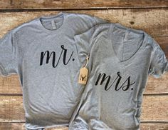 Mr. Mrs Shirt Set  Wifey Shirt  Hubby Shirt  Mr. by GNARLYGRAIL