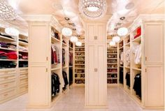 Multiple Rows w/Decorative Door Fronts!! I want my closet room to look like this!