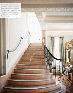 Modern staircase ideas - design and layout ideas to inspire your own staircase remodel, painted diy, decorating basement remodel pictures - staircase ideas Marble Staircase, Staircase Railings, Modern Staircase, Staircase Design, Stairways, Staircase Ideas, Iron Railings, Stairs Canopy, French Style Decor