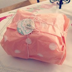 Cute wrapping for baby present. By Patriciabreu.