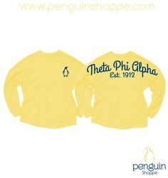 This Custom Theta Phi Alpha Yellow Coastal Jersey is here to brighten your day, let us brighten yours with a custom design!