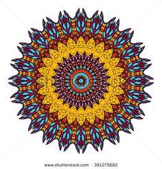 Mandala vector for art, coloring book, zendoodle. Hand drawn round zentangle for coloring book pages, mandala design. Coloring mandala: invitation, t-shirt print, wedding card, scrapbooking and tattoo - stock vector