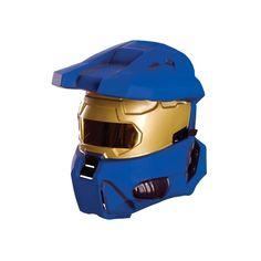 Halloween Rubie's Halo Blue Spartan Costume Half Mask Adult One Size, Men's Gender: male. Spartan Costume, Master Chief Costume, Half Mask, Halo, Gender, Costumes, Halloween, Blue, Products