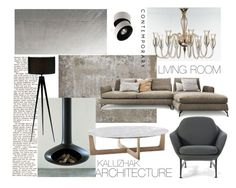 """Living sample 6"" by kalujak on Polyvore featuring interior, interiors, interior design, дом, home decor, interior decorating, Cassina, Rune NYC и Adesso"