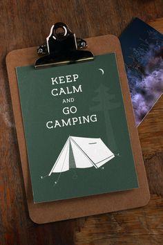 Weiteres - Keep calm and go camping - ein Designerstück von Klik-Dizajn bei DaWanda