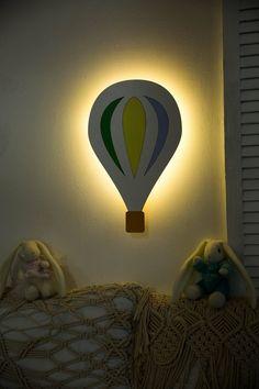 Balloon Nursery night light Bedside Lamp Kids night light for | Etsy Cloud Night Light, Nursery Night Light, Room Lights, Night Lights, Water Based Acrylic Paint, Baby Room Lighting, Bedside Lamp, Room Wall Decor, Balloons