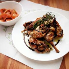 Coniglio al forno con rosmarino e aceto balsamico