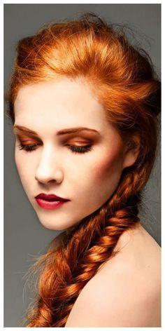 golden red orange make up