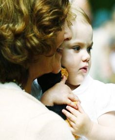 Princess Estelle with her grandmother Queen Silvia of Sweden, 14 July 2013.
