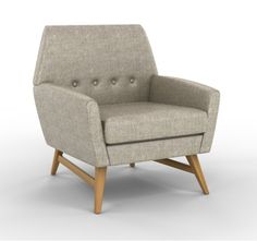Wyeth looks handsome in Glazed Linen Pearl. We're offering 20% off all upholstered furniture. #Design #interiors