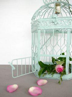 Handmade Birdcage Lamp. 110.00, via Sugar & Cloth Etsy.