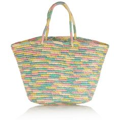 Sensi Studio Woven toquilla straw tote ($115) found on Polyvore