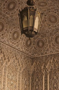 'A riad in Fes, Morocco' - the lace-carved stuco! / by Humanhands