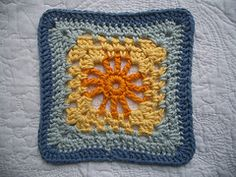 "Granny square - pattern published in - ""200 Crochet Blocks for Afghans, Throws and Blankets"" Available on Amazon"