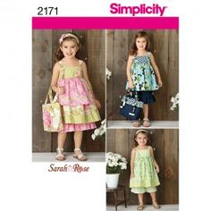 Simplicity Childs dress, top, trousers, bag and hair accessory (Age 3-8) 2171 $5.65