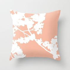 Peach pillows.