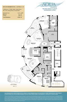 AQUA at Pelican Isle - Naples Florida Residence Availability New House Plans, Dream House Plans, House Floor Plans, Monster House, Apartment Floor Plans, Hospital Design, House Blueprints, Cool Apartments, Industrial House