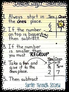 2 digit subtraction. Since Go Math is aligned with the Common Core there are quite a few strategies to begin this chapter before we head in...