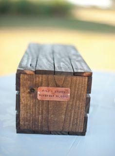 Antique Personalized Box #weddingvows #southernwedding