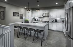 Are you obsessed with the diamond mosaic tile backsplash in this kitchen? Revo at Innovation in Fremont Kitchen Tiles, Kitchen Decor, Kitchen Design, Basement Kitchen, Rustic Kitchen, Ryland Homes, Spa Like Bathroom, California Living, Gourmet