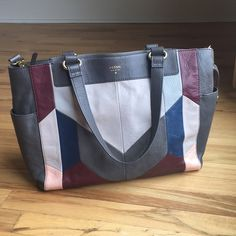 Fossil Handbags - FOSSIL Amanda patchwork tote/shoulder/crossbody