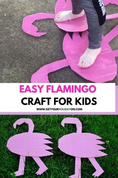 flamingo crafts diy #flamingos #crafts #kids #momlife